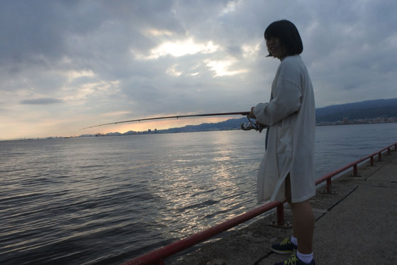 久々に次女と釣り。