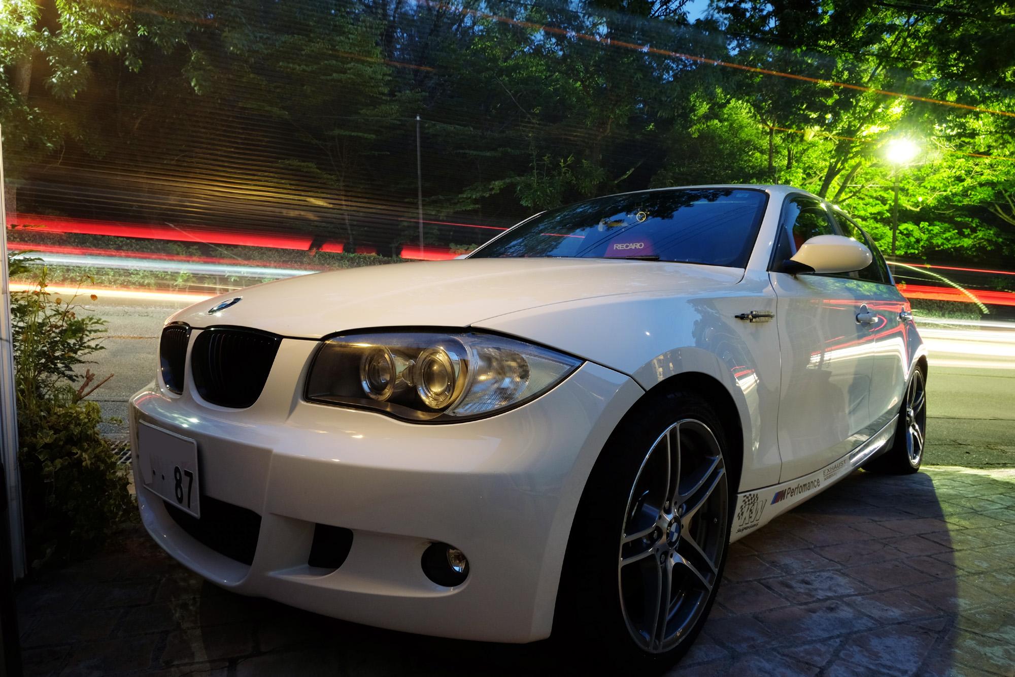 炎天下でしたが洗車しました。 dorayakipapa BMW 130i 水アカ取り