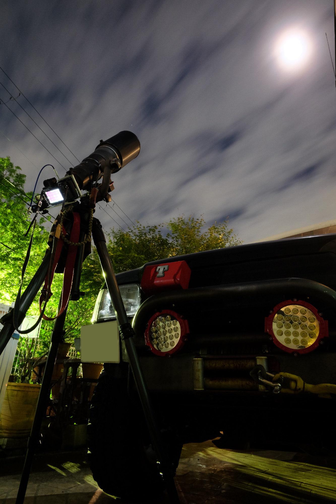 ニコワンとゴーヨンで月を撮る。Nikon1 V3 + FT-1 + AF-S 500mm F4 + TC-14E 1890mm相当ノートリミング