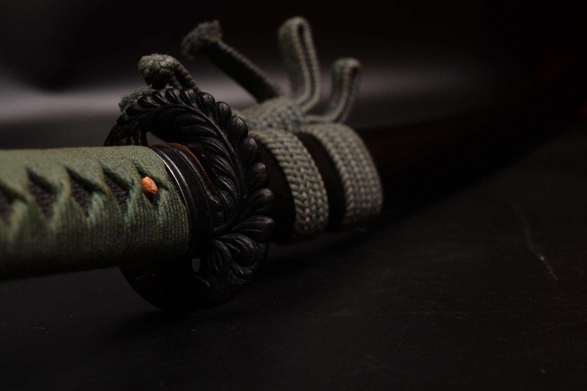 しのびや 高級居合刀 居合練習刀DX 砂型合金 鍔の交換