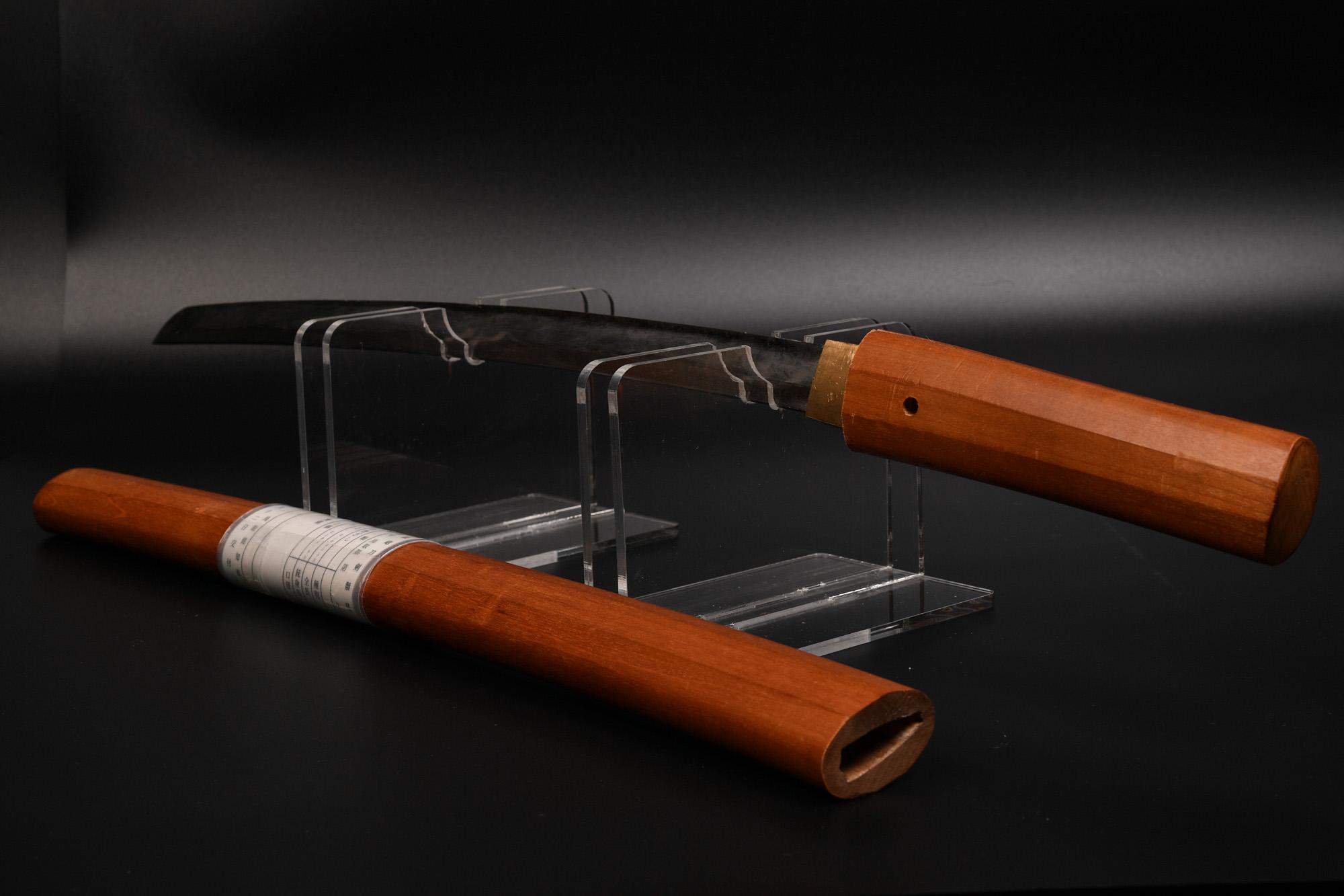 日本刀 脇差し(本身)に摸造刀の白鞘を流用