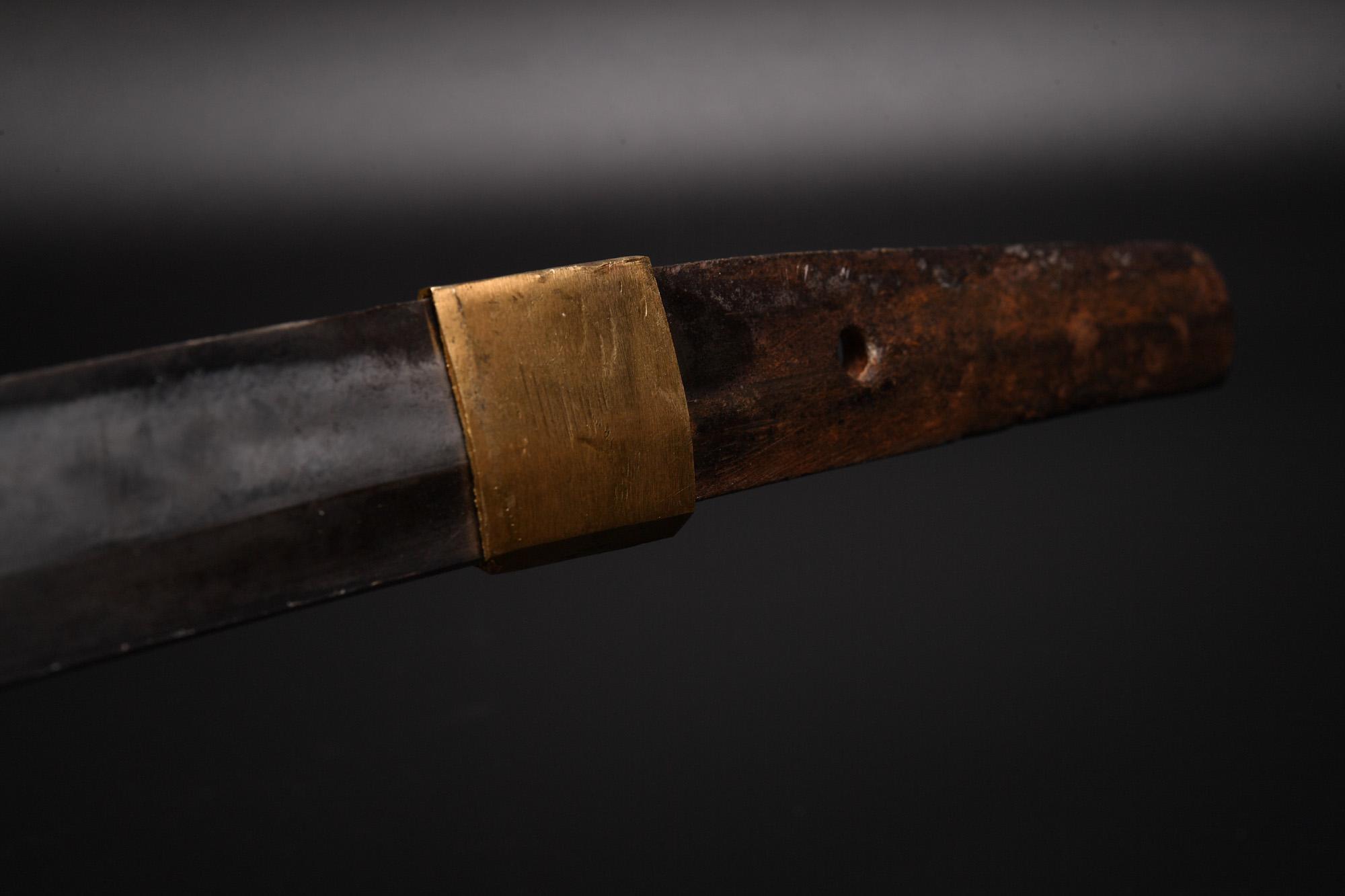 日本刀(脇差し)に摸造刀白鞘を流用 その2 鎺2個目を合わせました。