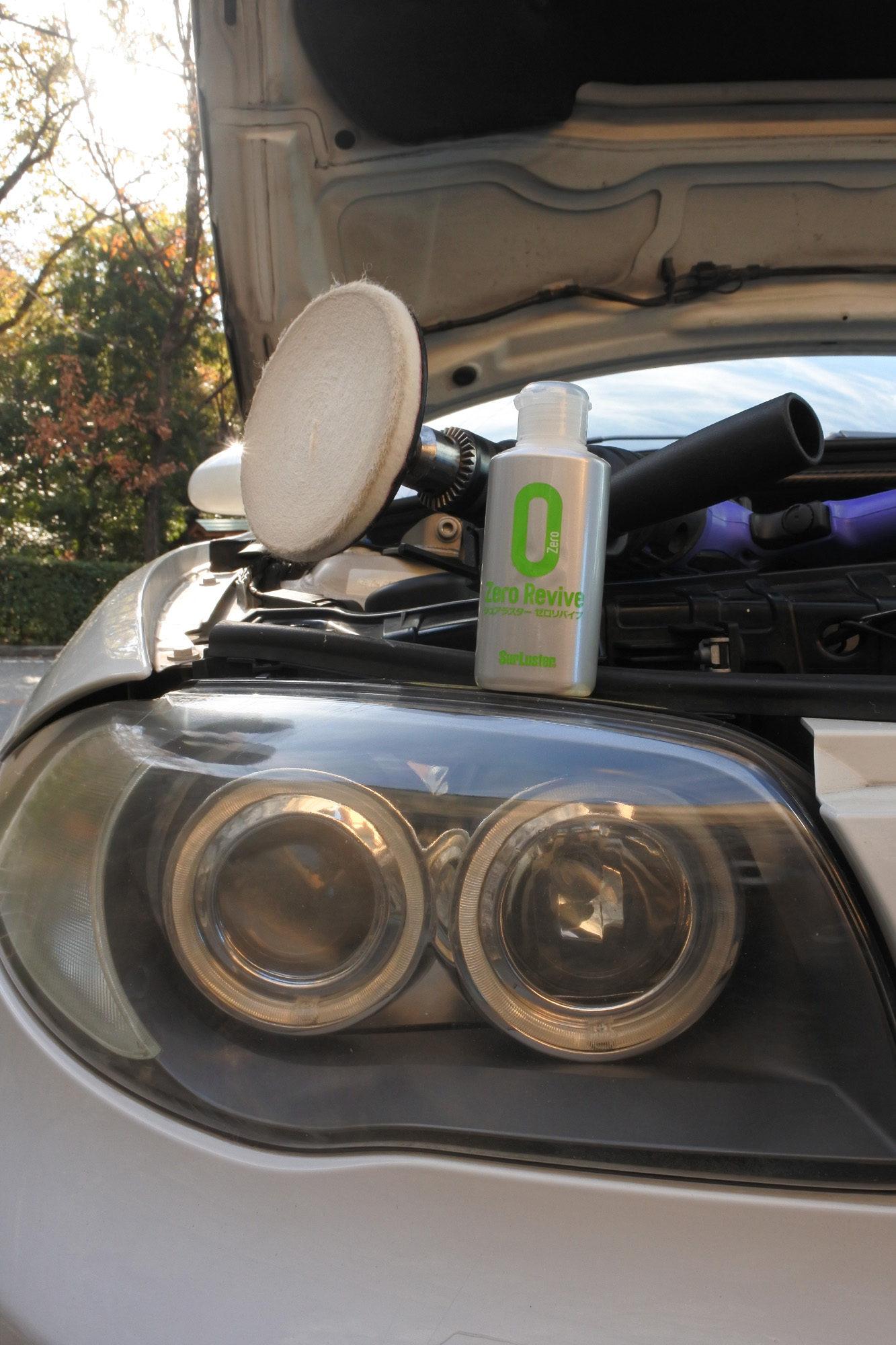 ヘッドライトの黄ばみ除去、LEDヘッドライト交換 BMW 130i E87