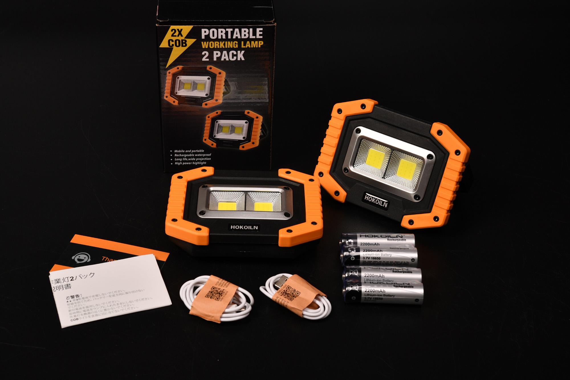 お買い得LED投光器を買ってみました。 LED投光器,2パックCOB 30W 1500LM