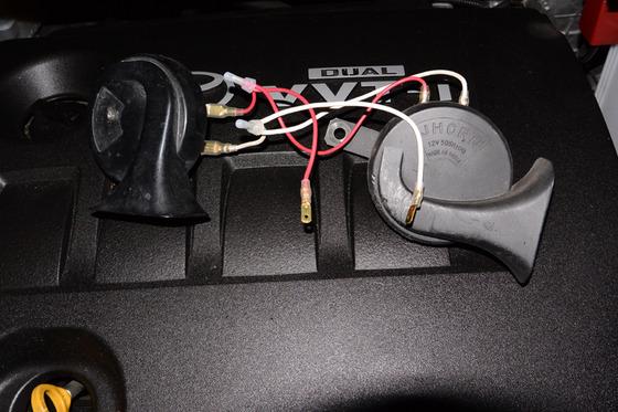 TOYOTA ist 180G 爺の車(会社の車)に社外ホーンを付けてみる。