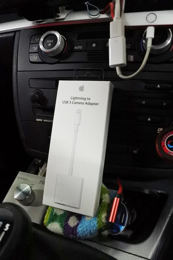 ハイレゾUSB-DAC Fostex PC100USB-HR 車載して充電しながら使う USB 3 カメラアダプター