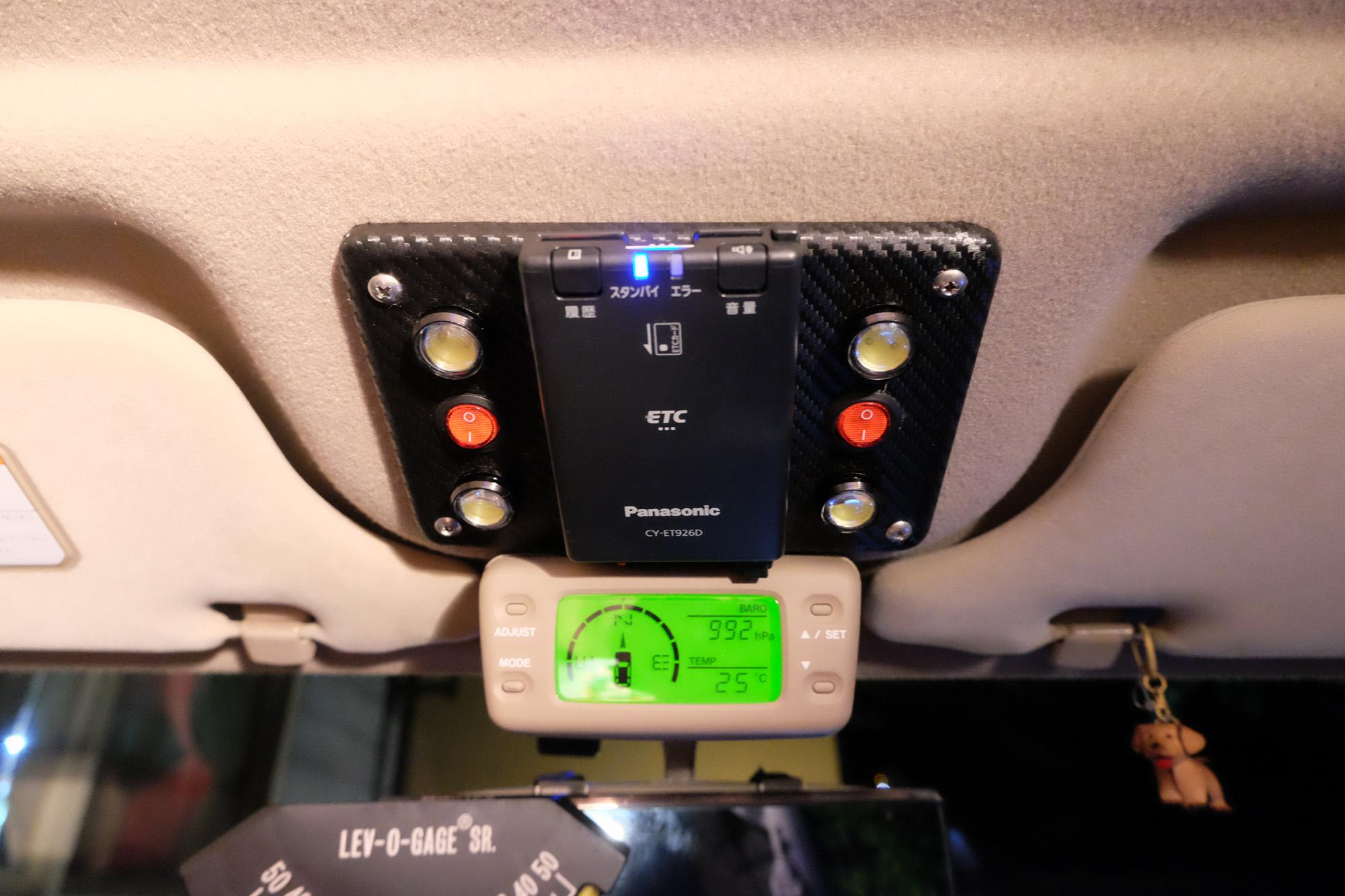 ETC Panasonic CY-ET926D やっとDIY取付です。 isuzu ビッグホーン UBS26GW