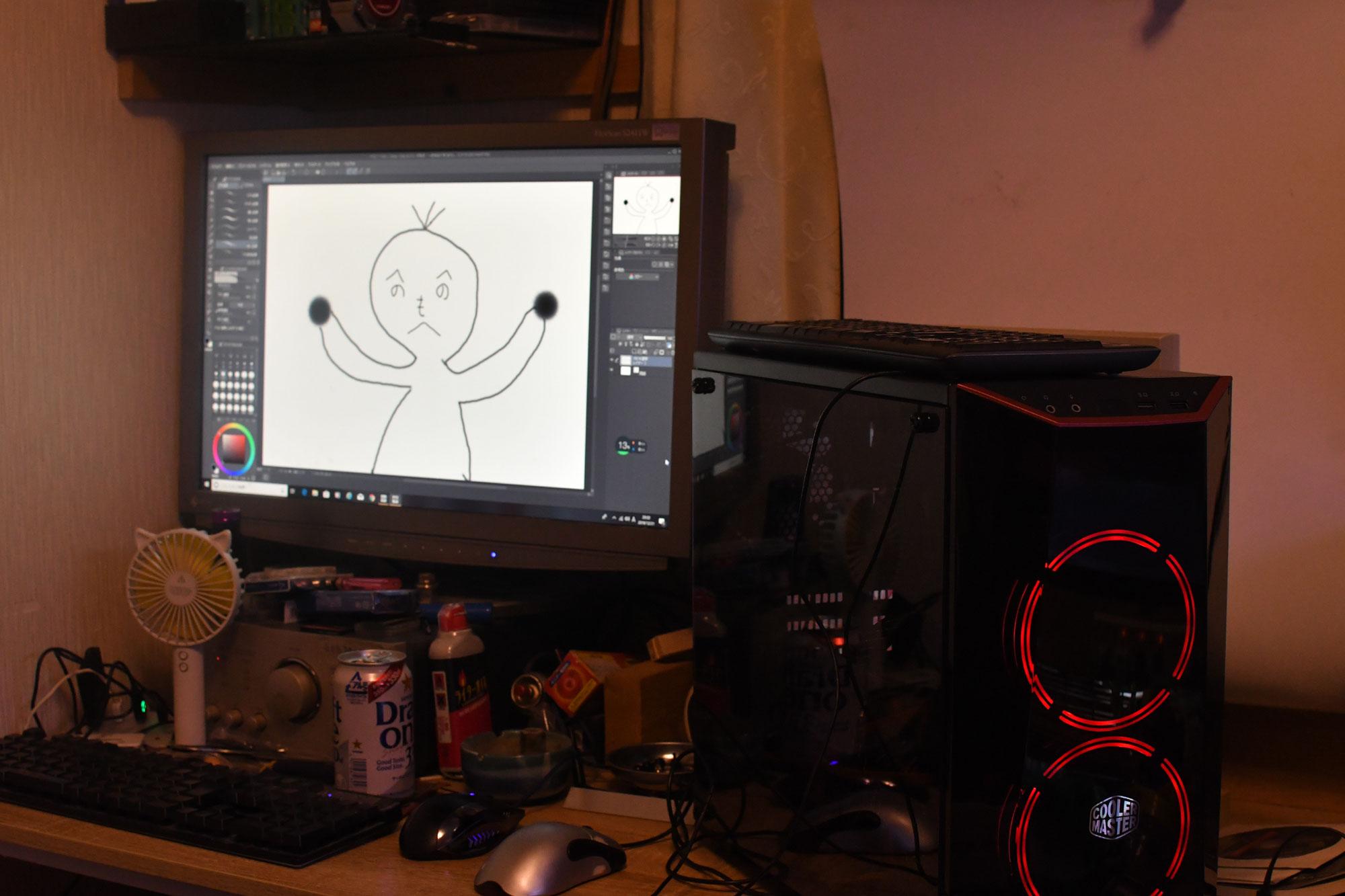 次女がお絵かき好きみたいなのでお絵かきソフト clip studio paint(クリスタ)を使えるようにしてみよう~。