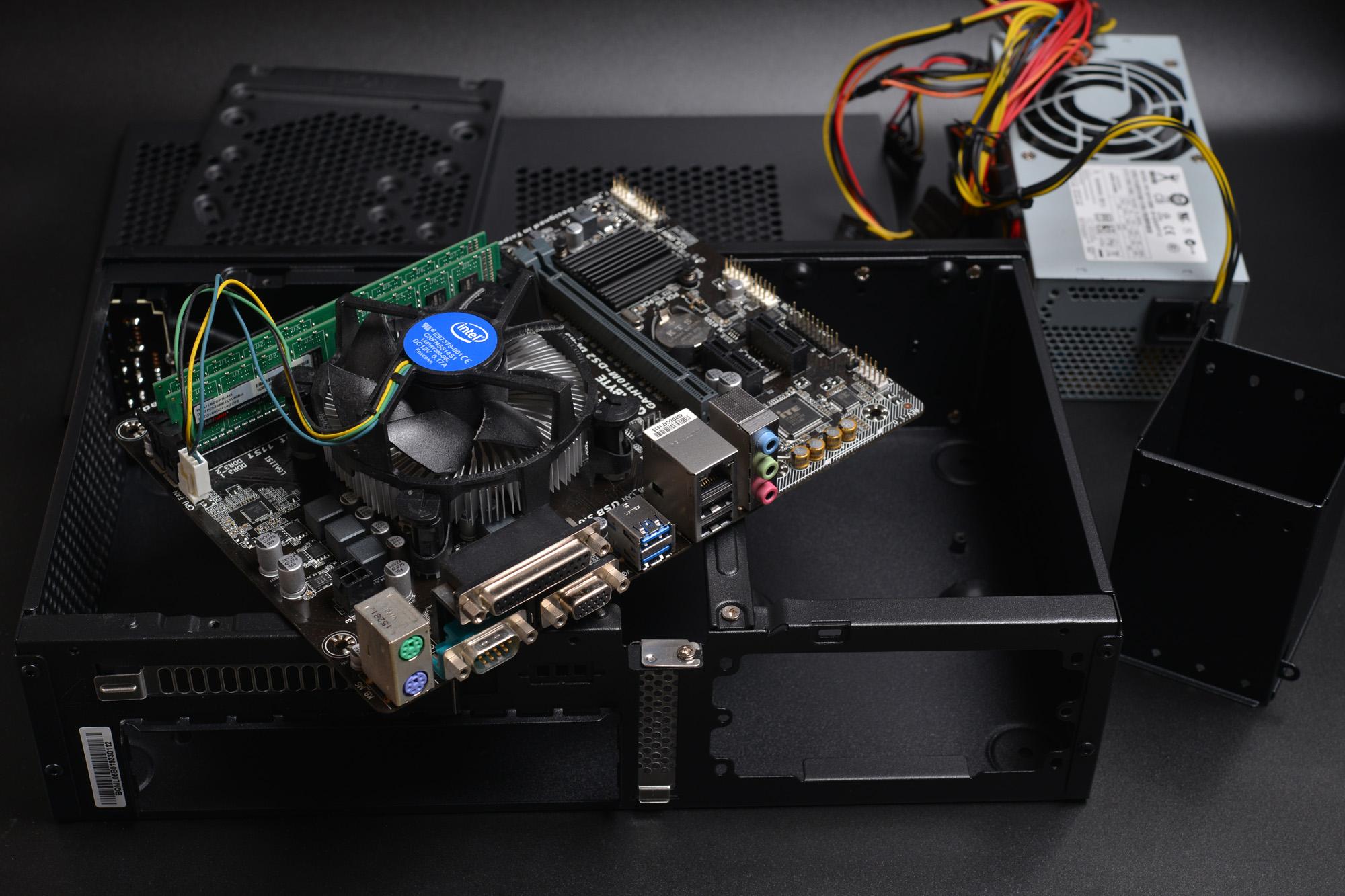 店で使うコンパクトPCを自作しよう! Mini ITXケースにMicroATX マザーボード SilverStone SST-ML05B