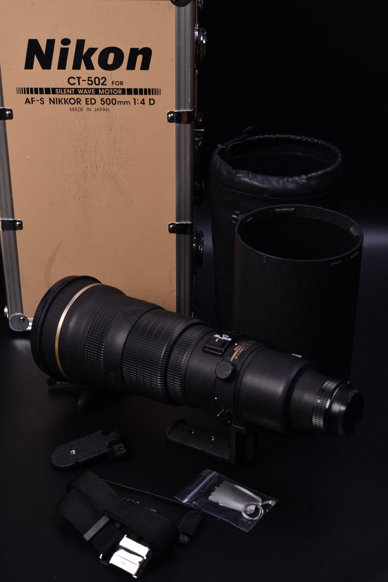 ゴーヨン到着! AF-S NIKKOR 500mm F4 ED Nikon D4