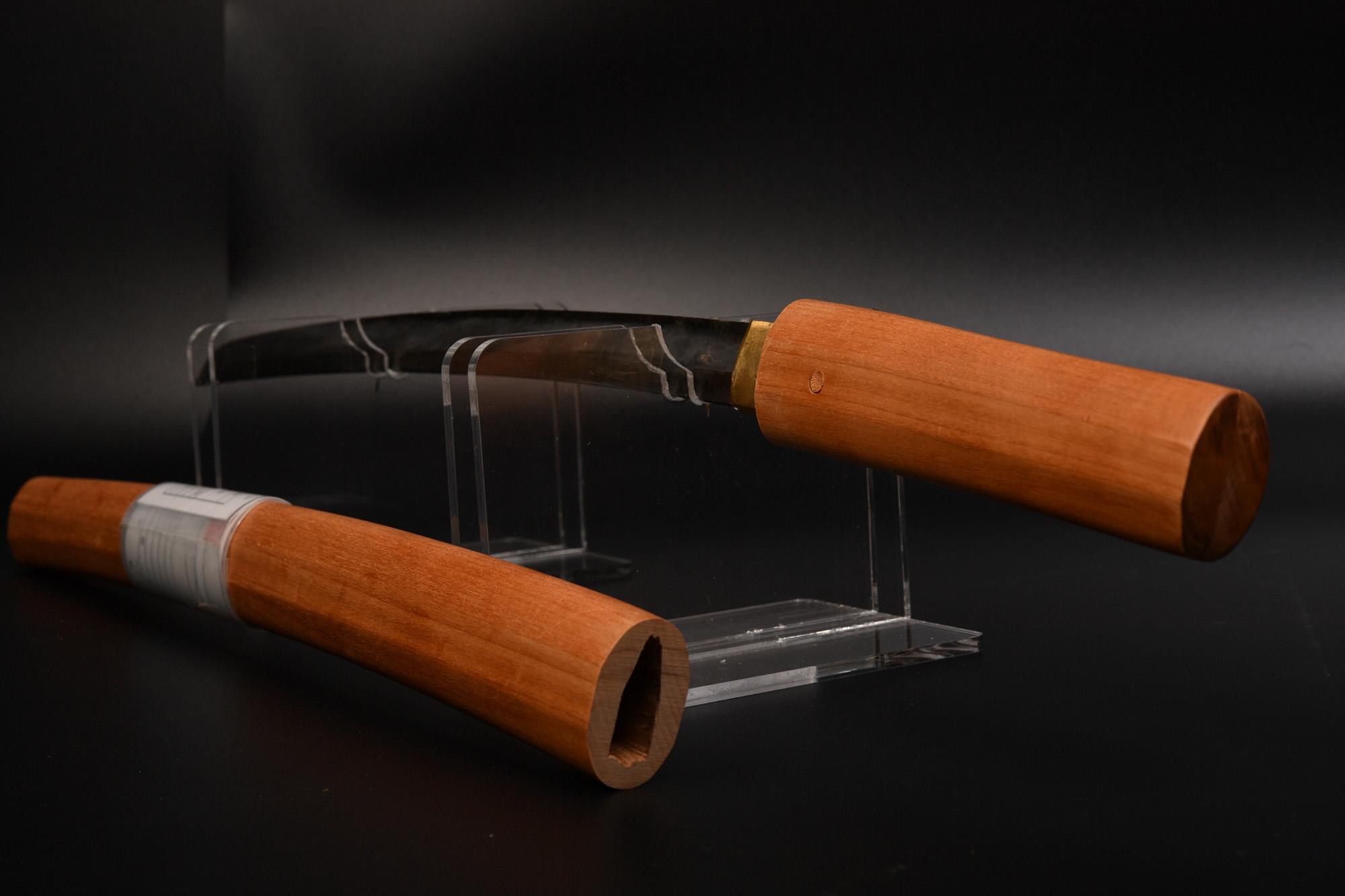 日本刀(脇差し)に摸造刀白鞘を流用 その3 白鞘の仕上げです。
