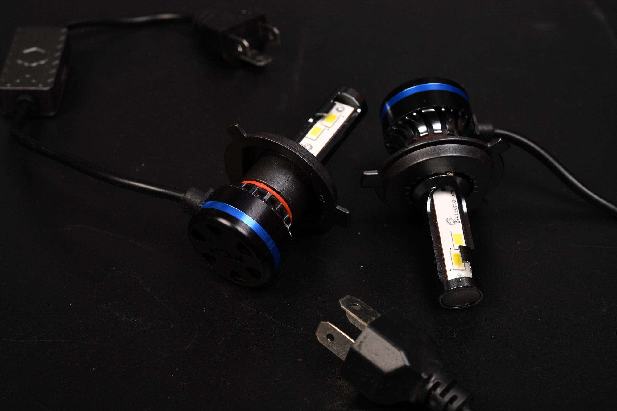 HID55WからLEDに交換してみました。 LED H4 Hi/Low
