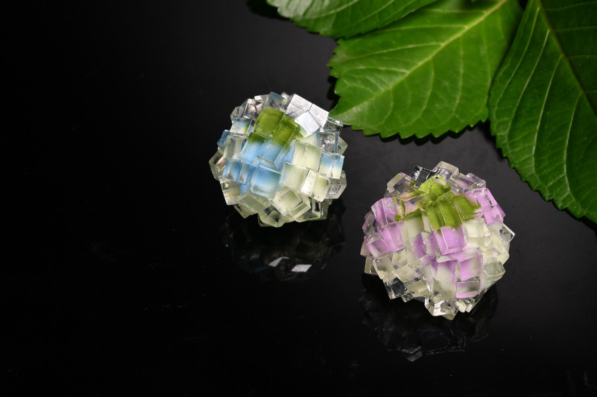 上生菓子の写真 紫陽花 和菓子の写真の撮り方で苦労する。