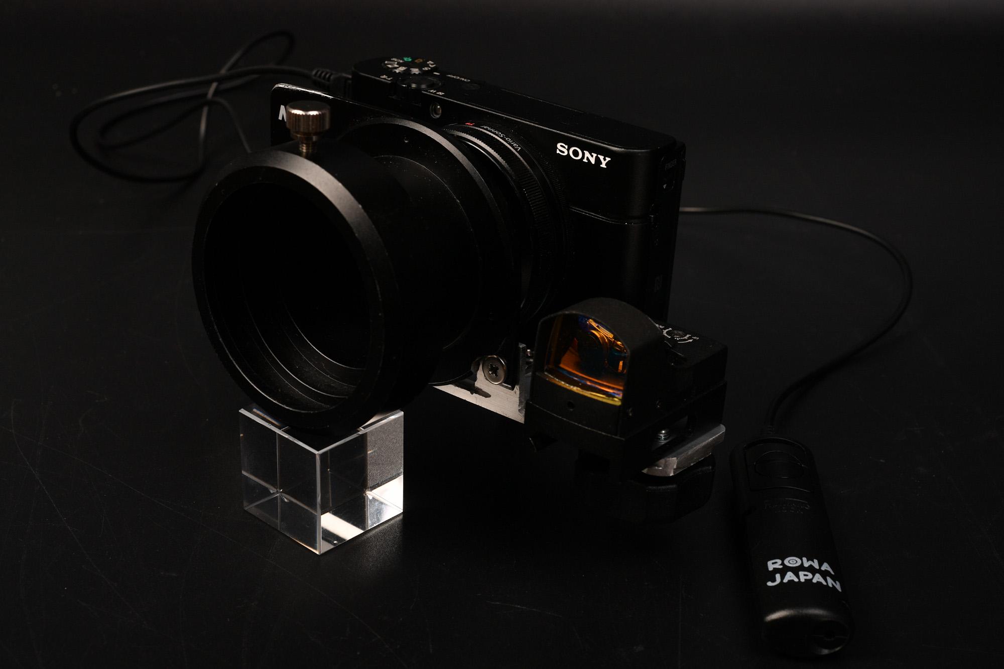 SONY RX100MⅢ用自作カメラアダプター デジスコ