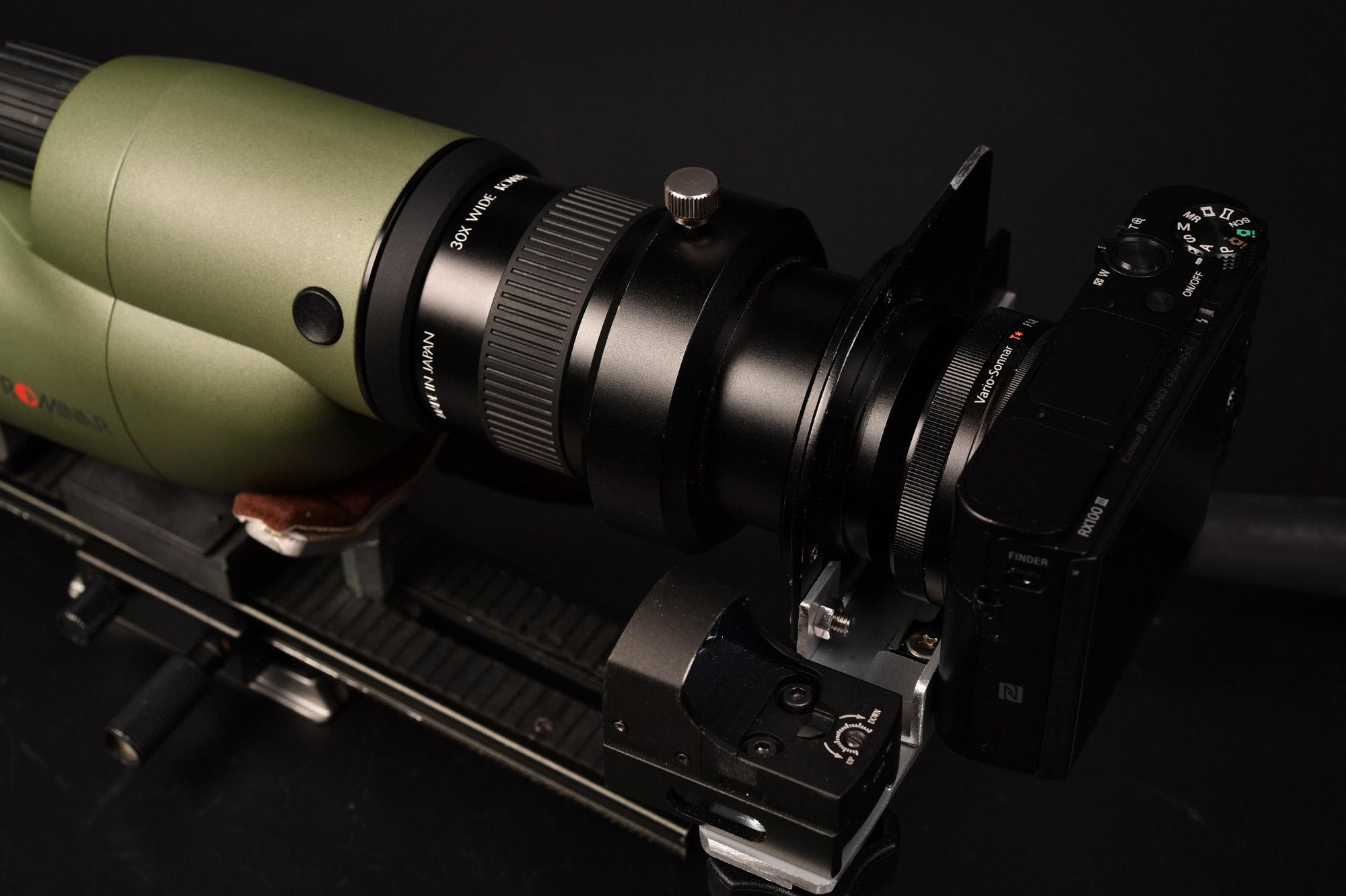kowaのスポッティングスコープ TSN-DA10を利用してNikonアイピース用自作カメラマウントを合体!