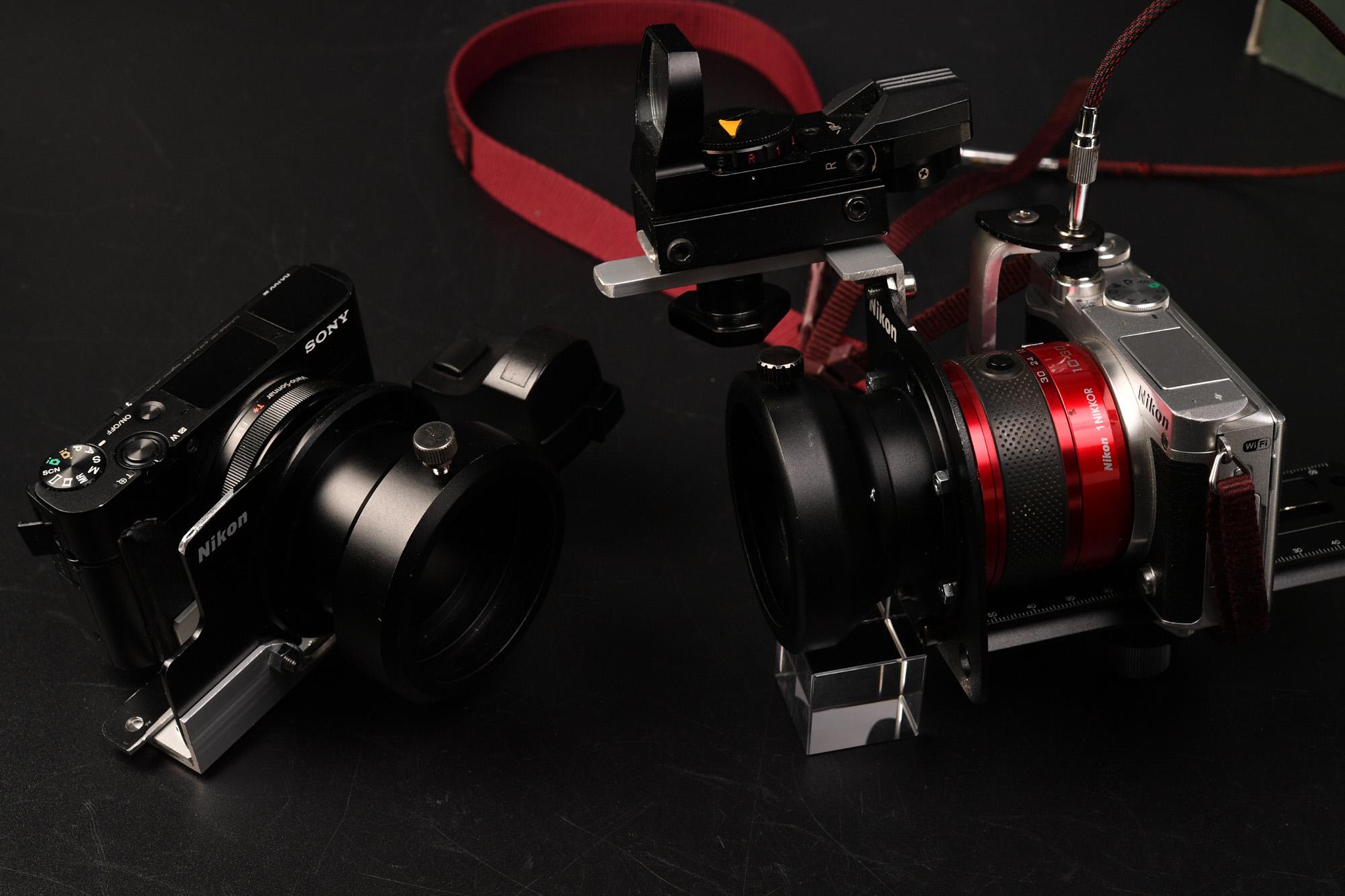 kowa TSN-774 自作Nikon接眼レンズ用に作ったカメラブラケットで試し撮り SONY RX100M3 Nikon1 J5