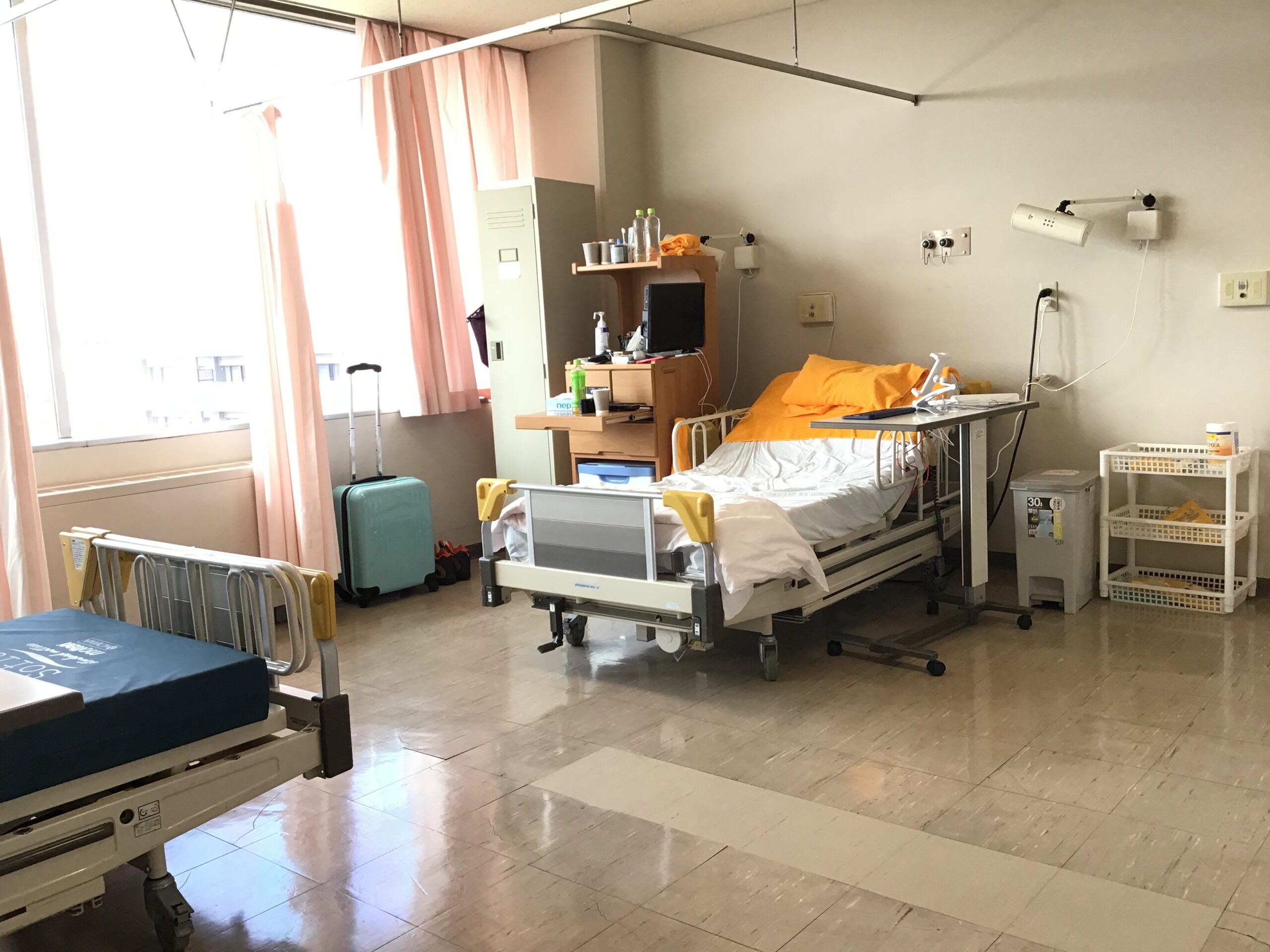 コロナ対応病棟での入院生活 掃除は、自分で!